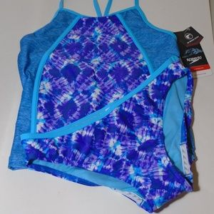 Speedo Youth Space dyed Tankini 2 Piece Swimsuit